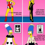 Marge Simpson hits the world of fashion