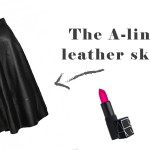 Trend Alert – The A-line leather skirt